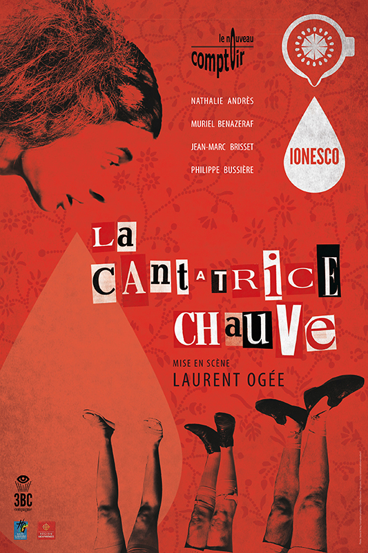 """Spectacle """"La Cantatrice chauve"""", par la compagnie """"Le Nouveau comptoir"""" (Roubaix, 59)"""