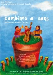 """Projet d'affiche pour le festival """"Combines à sons"""", Toulouse (2004)"""