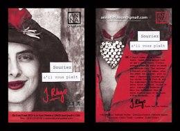 """Flyer pour le spectacle """"Souriez s'il vous plaît"""" par AN-NA Compagnie (Toulouse)."""