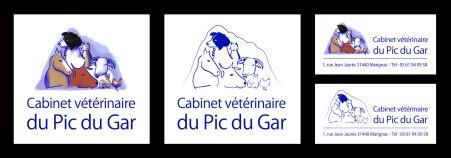 Création du logo du Cabinet Vétérinaire du Pic du Gar à Marignac (31)
