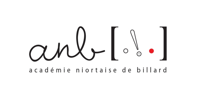 Projet de logo pour l'association ANB – Académie Niortaise de Billard (Niort, 79)