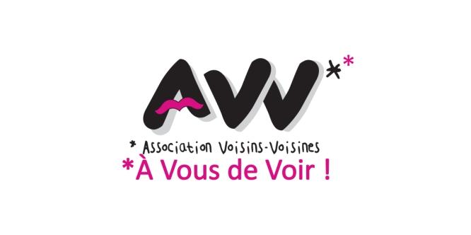 Création du logo de l'association Voisins-Voisines, qui milite pour le développement de la culture en milieu rural et organise chaque année le Festival des Voisins, dédié au théâtre (Arbas, 31)