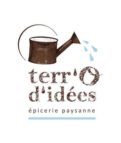 """Création du logo de l'association """"Terr'O d'idées"""", épicerie paysanne (canton d'Aspet, 31)"""