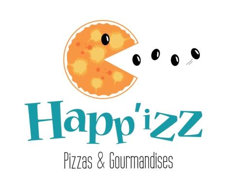 """Création du logo de """"Happ'izz"""" (11), qui propose ses services de restauration ambulante dans la région de Castelnaudary. Projet réalisé dans le cadre d'un stage de formation destiné à des porteurs de projet (en partenariat avec la BGE Ouest Audois."""
