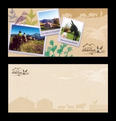 Carte postale 210x100 mm, impression recto verso