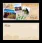 Carte postale 210x100 mm, impression recto verso