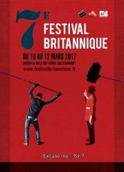 Affiche pour le Festival Britannique de Castelnaudary (cinéma)