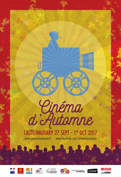 """Affiche pour le festival """"Cinéma d'automne"""", édition 2017"""
