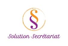 Création du logo de Solution Secrétariat, entreprise individuelle portée par Sandrine, secrétaire indépendante pour professionnels et particuliers.